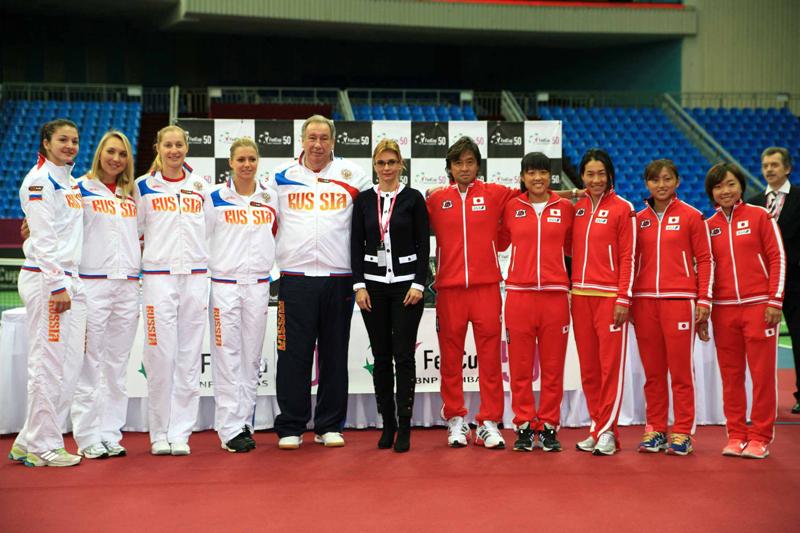 フェドカップ日本代表とロシア代表(テニス)