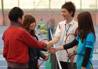初心者のためのテニスマナー、握手